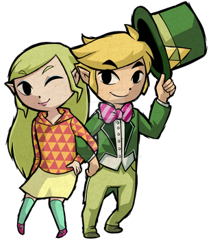 New 3DS Zelda and Link by Decapitated-Kittens