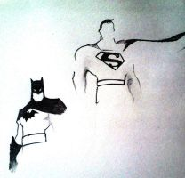 Batman And Superman by devildarkhead