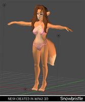 3d Anthro Character Janelle By Snowbristle by Snowbristle