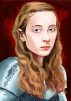 Joan Of Arc Digital Painting Portrait by Mathieustern