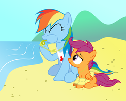 Request: Pegasi Lifeguards by masemj