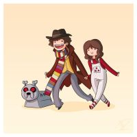 Adventure Time and Space! Fourth Doctor by Blizarro