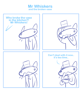 Mr Whiskers and the broken vase by SmokyJack