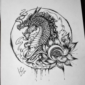 Chinese dragon by KiraCold
