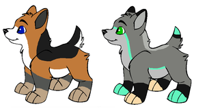 CrystalxFitch , XyliaxAero Puppies for Sugarsweet by Twine-Adopts