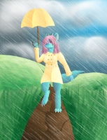 AT: A Stroll in the Rain by FeatheredSoap