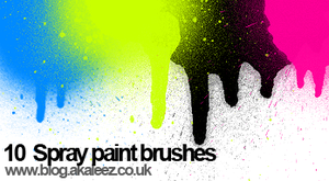 spray paint set brushes by akaleez88