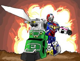 COOL ZORDS DON'T LOOK AT EXPLOSIONS!!! by pterodactilo