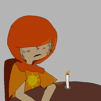 Rose eating alone without salad by KarkatBBYCAKES