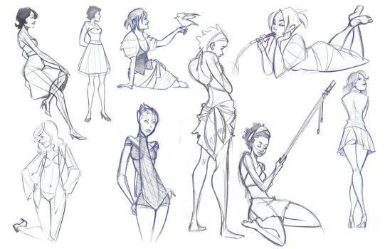Life Sketches 6 by mollyinmeguro