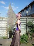 Steampunk fairy queen - side view by Firefly182