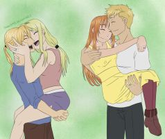 The Happy Couples - EdWin / AlJulia by HitanTenshi