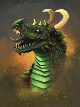 Green Dragon (updated) by Hawkheart11