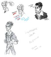 Handsome Jack doodles by Wolf-Shadow77