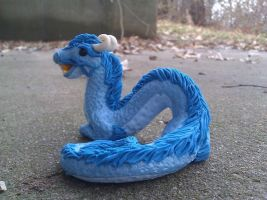 Oriental Dragon Polymer Clay by AdeCiroDesigns