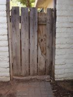 fence door by gothfiend-stock