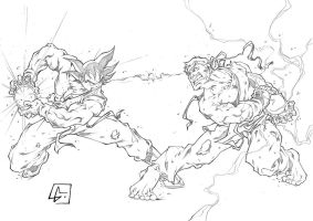 SonGoku vs Ryu by marvelmania