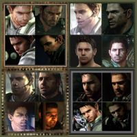 RE5 Vs RE6 ~ Chris Redfield by Winzie297