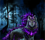 AT: Fenrir, God of Darkness by EternalDragoness
