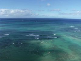 The Blue Waters of Waikiki by rioka
