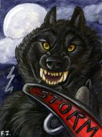 Storm Werewolf by Foxfeather248