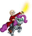 Commish - Riding into Battle by Jammerlee