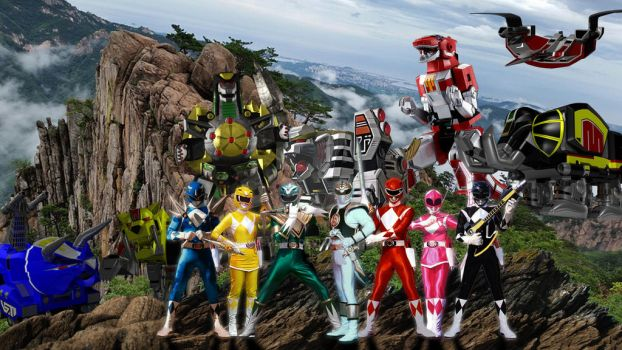 Power Ranger Original All 7 Rangers by Wushong