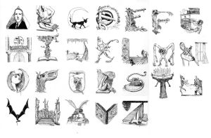 Lovecraft Alphabet A-Z by Curiosis