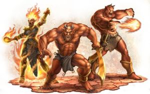 DnD4e: Efreets by UdonCrew