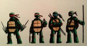 TMNT tiny sketch by legumebean