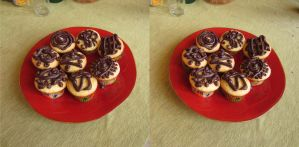 Stereograph - Cupcakes by alanbecker
