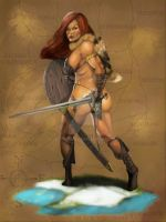 Red Sonja of Hyboria by JLazarusEB