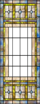 Plain unused stained glass design by artmovementspgh
