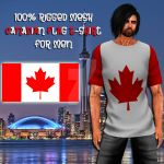 Canadian Flag T-Shirt Poster by Sekhmet17