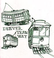 Denver Tramway Streetcars by K-111