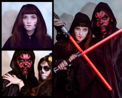 Star Wars Sith Halloween Makeup by ryumo