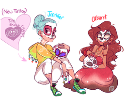 Caboret And Jennifer Cuties by temporaryWizard