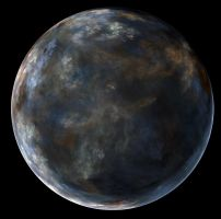 Browny Blue Planet by PaulineMoss