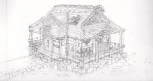 PERSPECTIVE JAPANESE HOUSE by Jackle0rgy