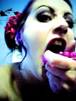 eat the pink for a delicious brain killing by Antonia-Asylum-Queen
