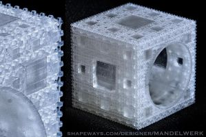 Inverted Menger Sponge 3D print EXTREMELY DETAILED by MANDELWERK