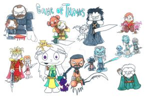 game o thrones collage commish by 5chmee