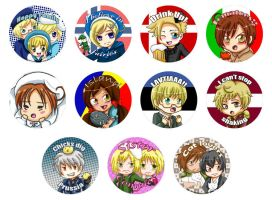 Buttons :: Hetalia 2 by khiro