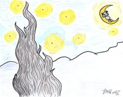 Famous Fella Starry Night by Mythologydude1