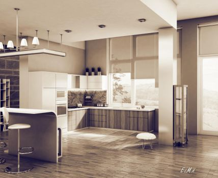 Kitchen 1 by ElxMa