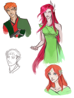 Characters of Nea by ElizaLento