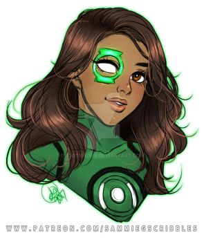 Jessica Cruz- Green Lantern warmup by Roots-Love