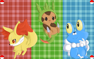 Kalos Starter Wallpaper by Aven-Mochi