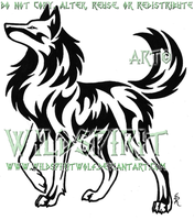 Proud Strong Wolf Tattoo by WildSpiritWolf