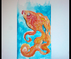 Watercolor Goldfish by ForTheLoveOfWalrus